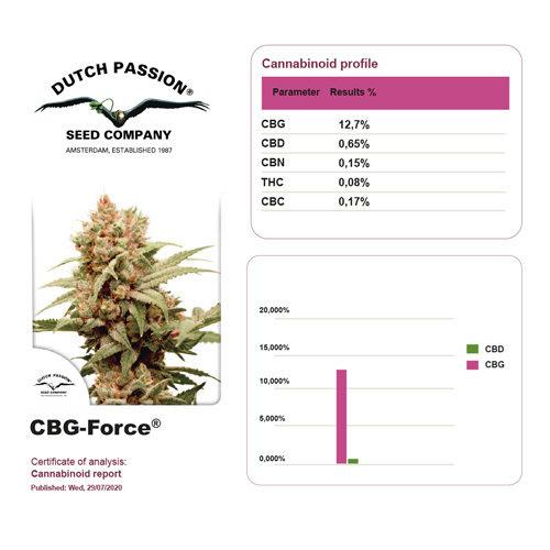 cbg force feminized - dutch passion cannabigerol strains, medical seeds